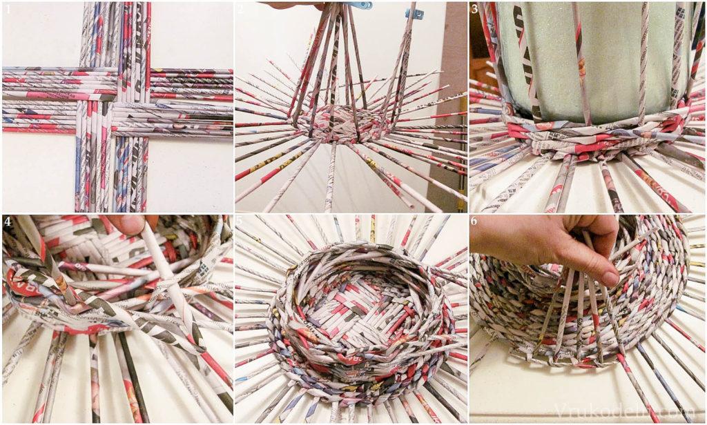 Советы при плетении из газетных трубочек