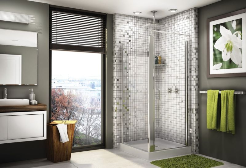 bathroom-creative-bathroom-decoration-with-square-corner-glass-shower-door-including-white-mosaic-tile-bathroom-wall-and-white-wood-wall-bathroom-vanity-adorable-bathroom-decoration-with-corner-glass