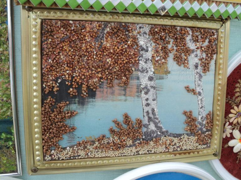 Картины из круп и семян своими руками фото 69