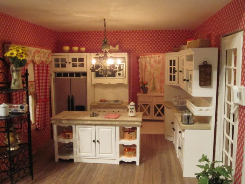 country-kitchen-interior-pink-gourmet-kitchen-cabinets