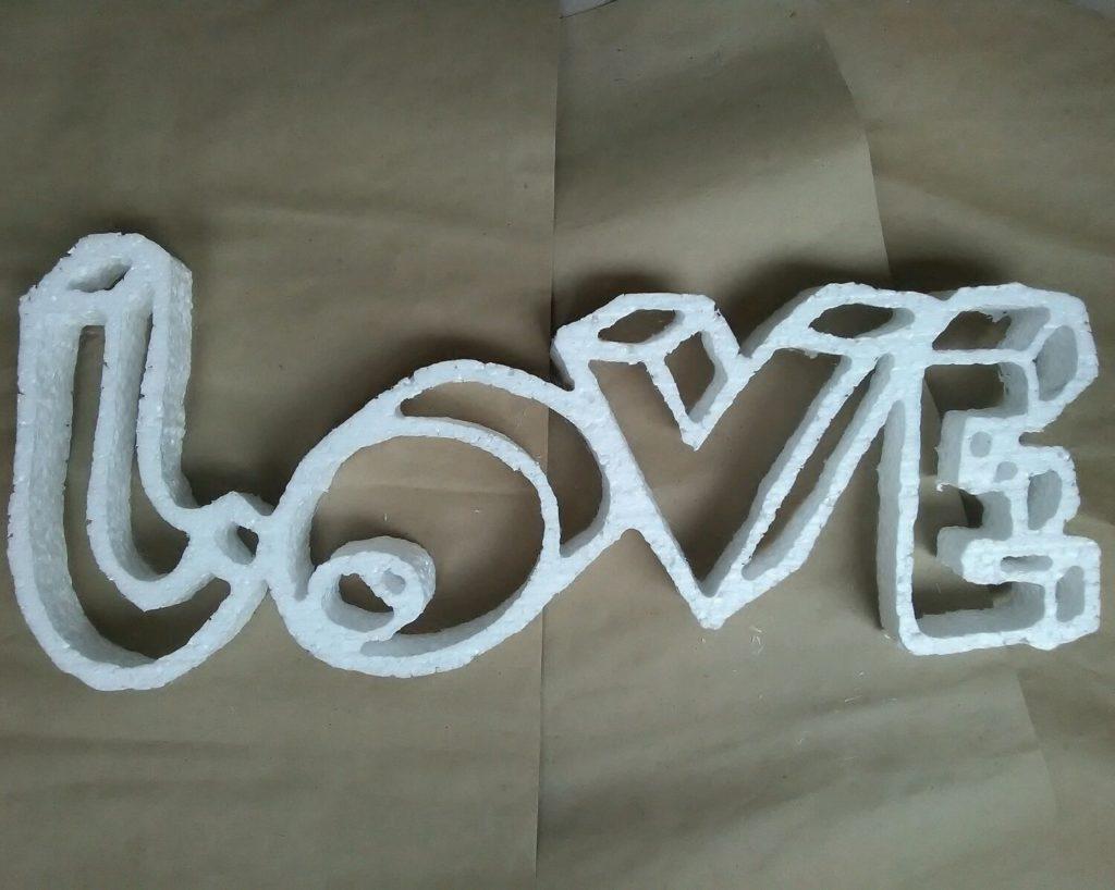 Объемные буквы из пенопласта своими руками с пошаговым