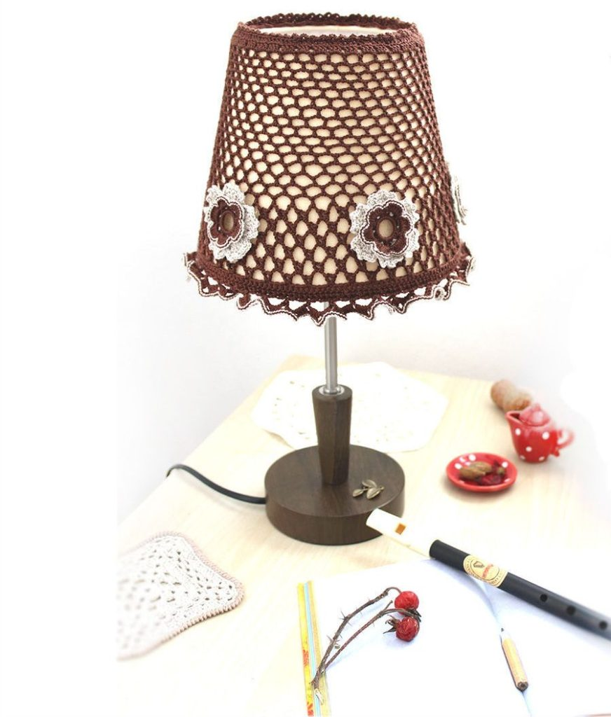Плафон на настольную лампу своими руками 51