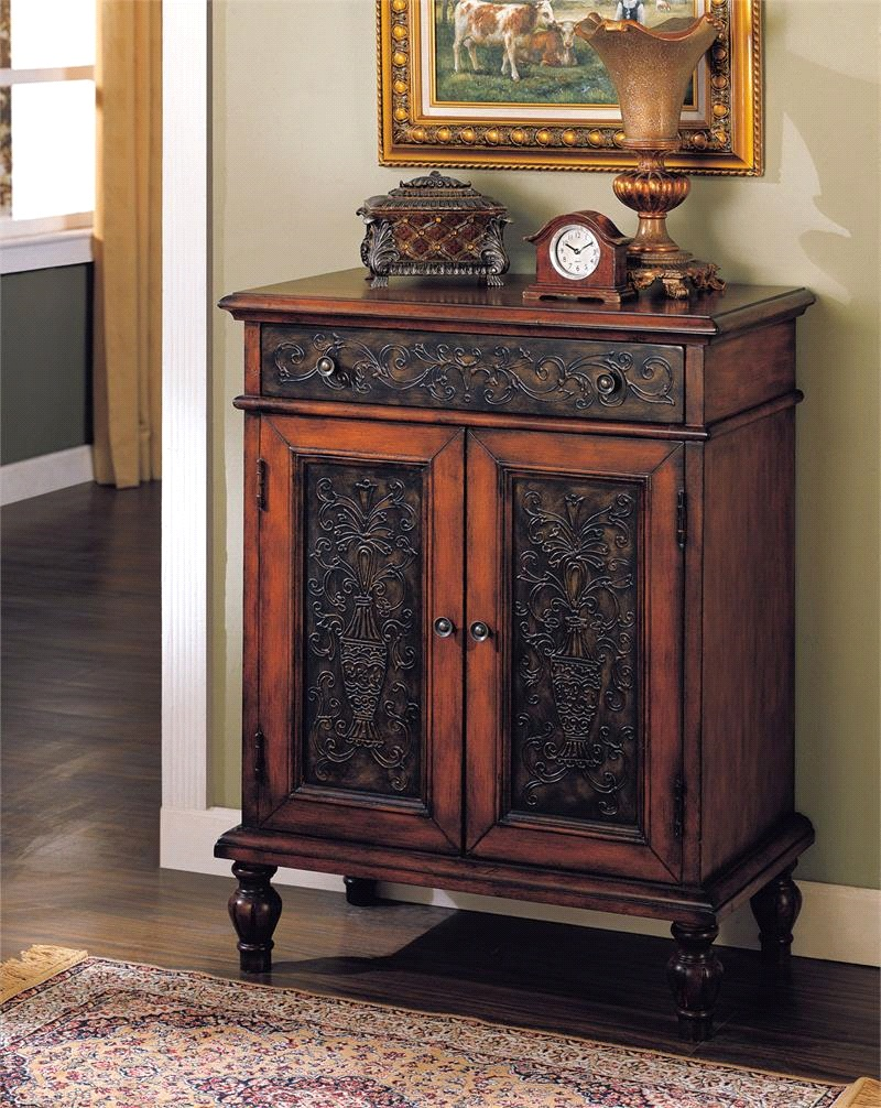dark-color-accent-chests-with-drawers-and-cabinets-for-small-and-narrow-hallway-spaces-ideas