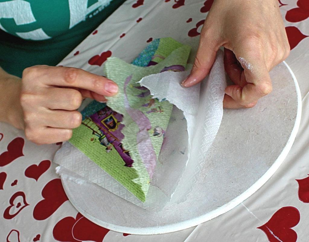 Декупаж обычными салфетками своими руками