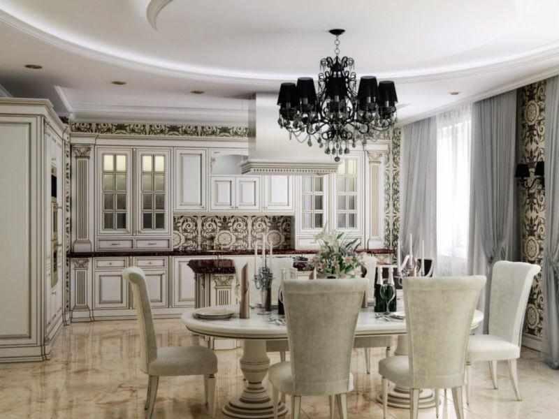 dizajn-interera-kukhni-stolovoj-v-klassicheskom-stile61