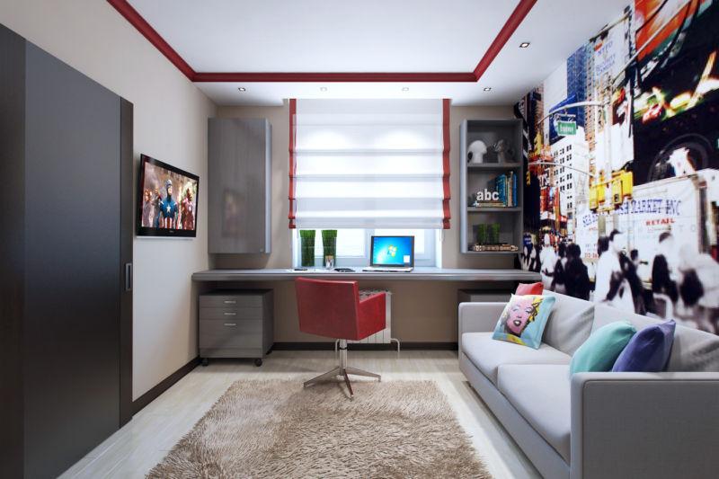 Детские комнаты дизайн фото узкие