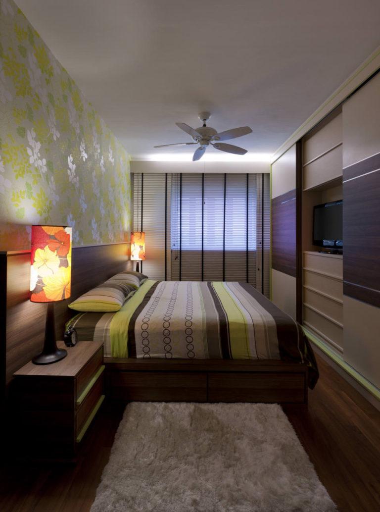 Спальня в узкой комнате дизайн