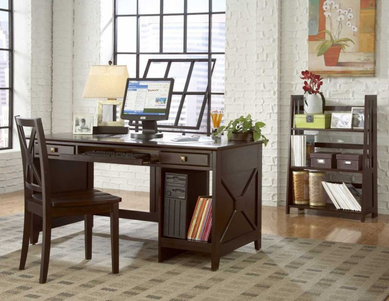 elegant-home-office-with-wooden-dark-desk-and-chairs-10-modern-home-office-design-ideas