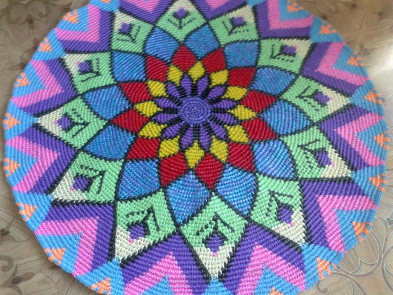 Вязание коврика из пакетов 51