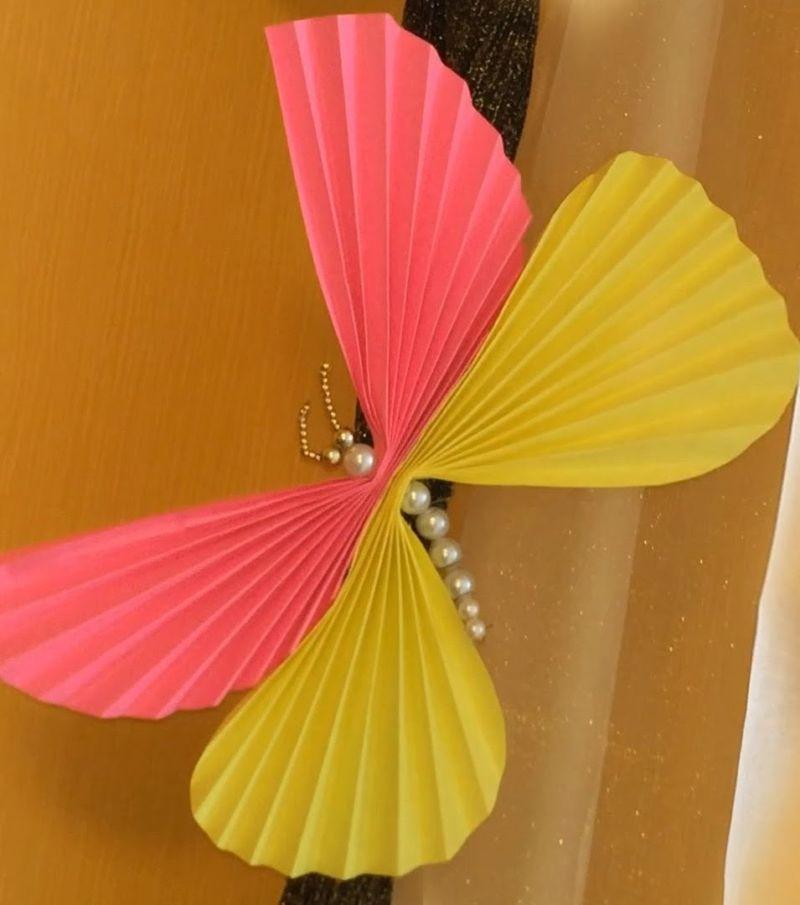 Как сделать бумажную бабочку