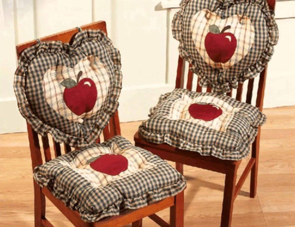 Фото сидушки на стулья своими руками