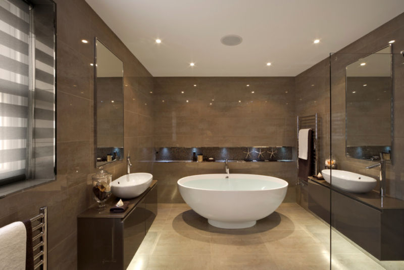 modern-bathroom-interior-design-with-rounded-white-ceramic-stand-alone-bathtub-combined-with-dark-brown-glossy-melamine-floating-vanity-as-well-as-small-bathroom-remodel-and-bathroom-renovation-1138x7