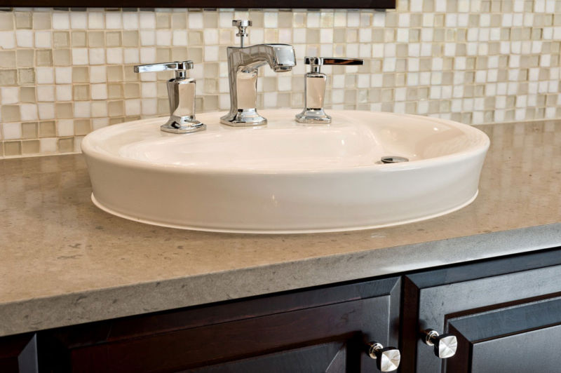 Bathroom sink backsplash ideas