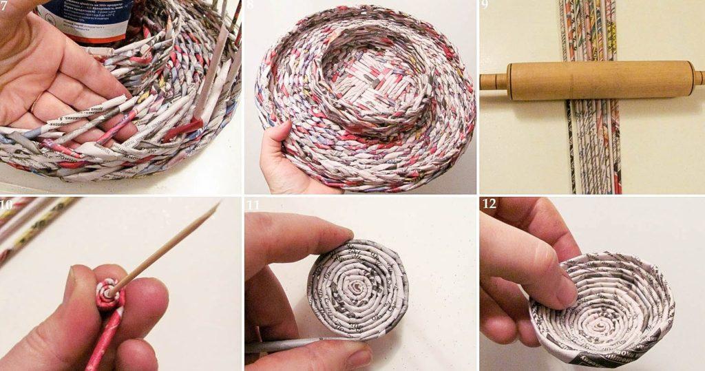 Плетение из газетных трубочек своими руками 771