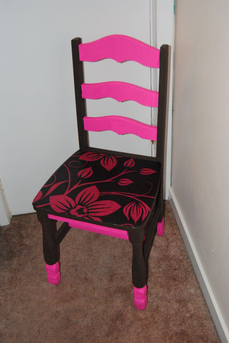 pink-and-brown-painted-decoupage-chair
