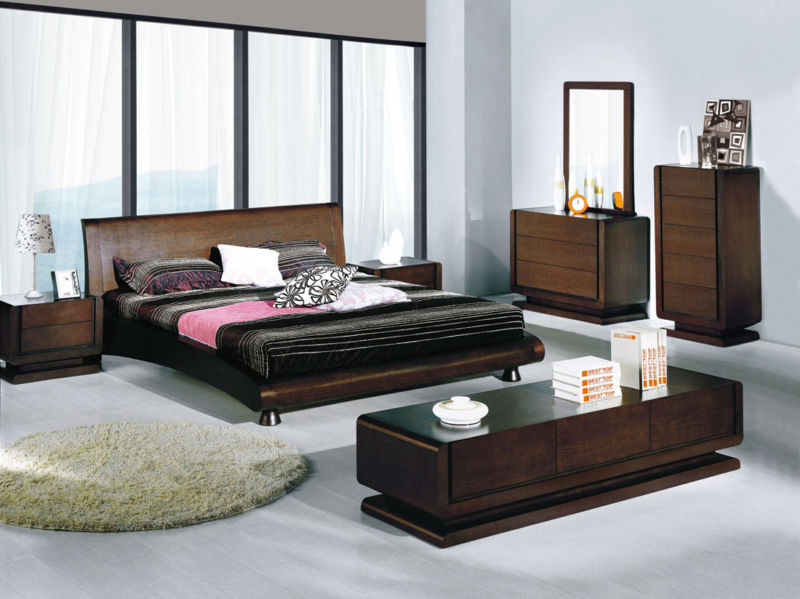 simple-and-spacious-bedroom-decoration-with-brown-wooden-furniture-like-vanity-and-drawes-contemporer-in-simple-colors