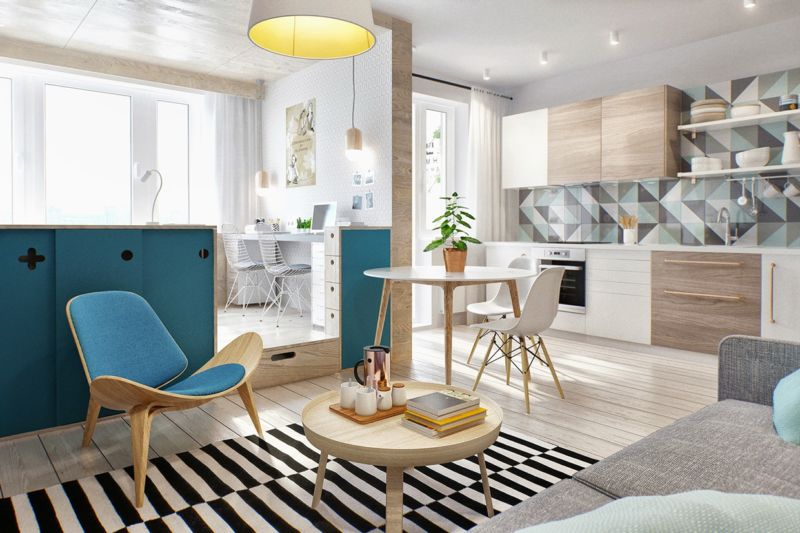 The design of the narrow apartment
