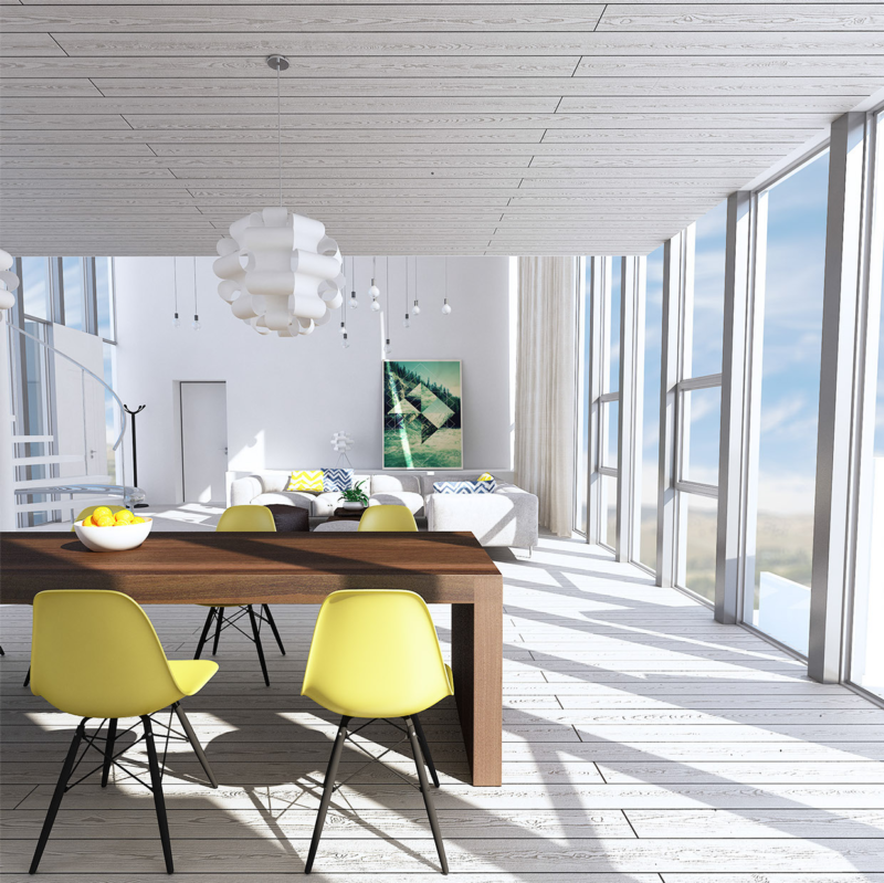 _sunny-yellow-eames-chairs