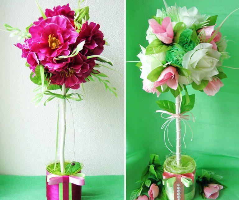 Цветы для топиарий своими руками фото