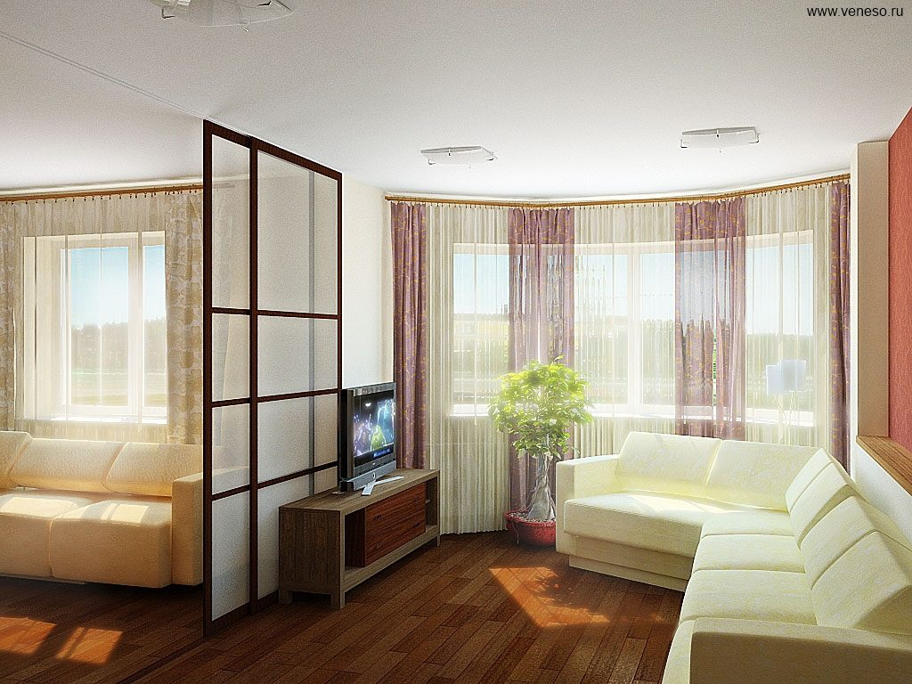 Дизайн комнат с перегородками