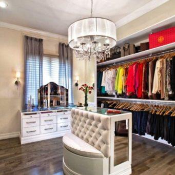 угловой, гардеробная, фото, интерьер, Угловая гардеробная, верхней одежды