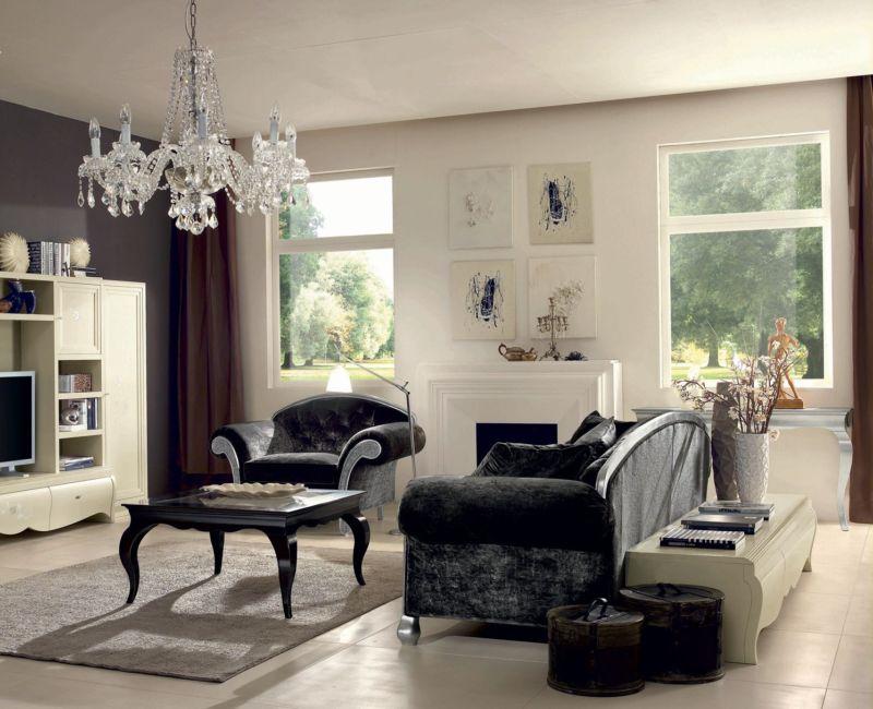 Гостиная-в-стиле-арт-деко-с-тумбой-ТВ-коллекция-Contemporary-Modenese-Gaston