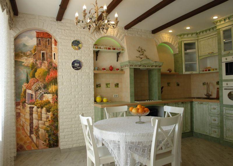 кухня в стиле прованс 120 фото стильного дизайна на кухне
