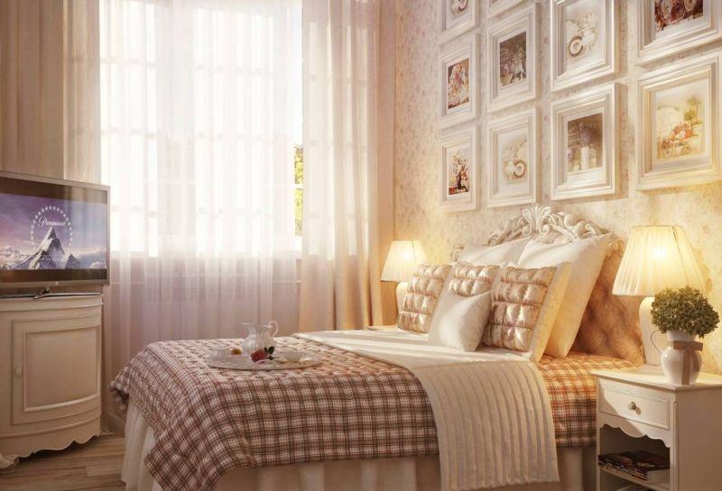 шторы в бежевую спальню