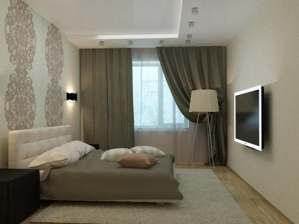 Дизайн интерьера спальни 15 кв.м