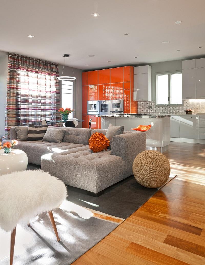 оранжевый, кухня, фото, оранжевого цвета, кухни оранжевом, кухни оранжевом цвете