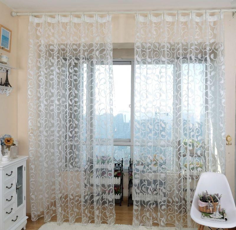 Фото идей тюль и шторы 7