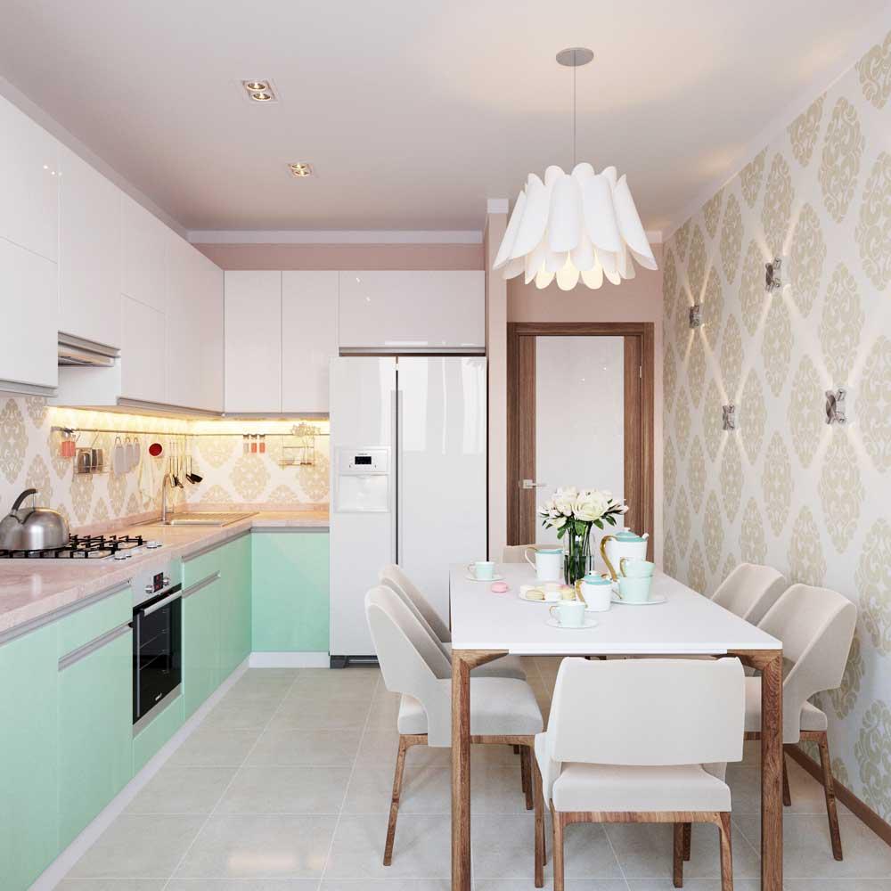 фото дизайн кухни 10 кв