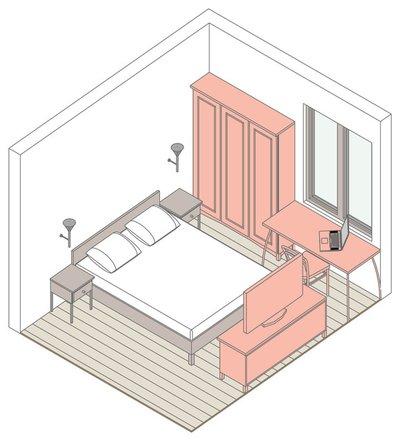 Таблица маленькая комната
