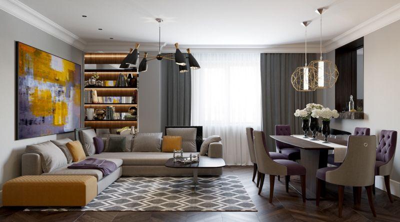 интерьер гостиной комнаты фото в современном стиле