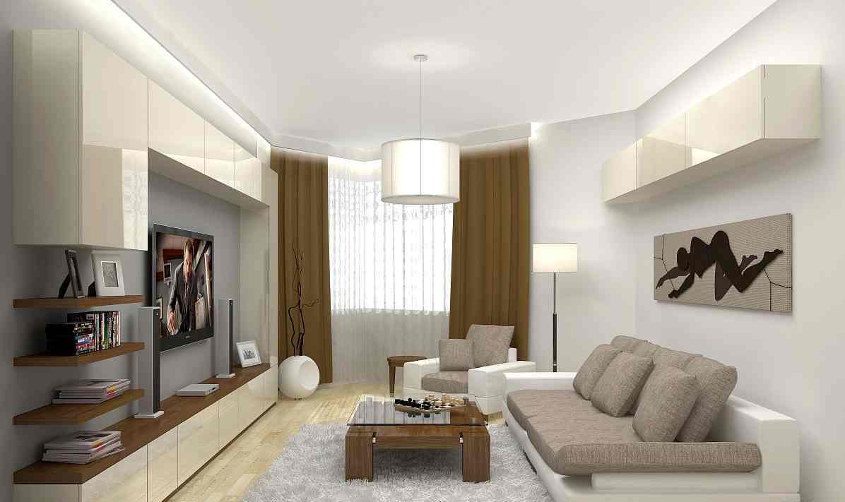 дизайн минимализм в гостиной