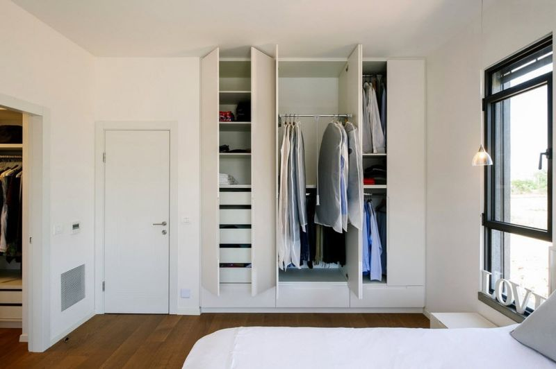 Dressing in bedroom