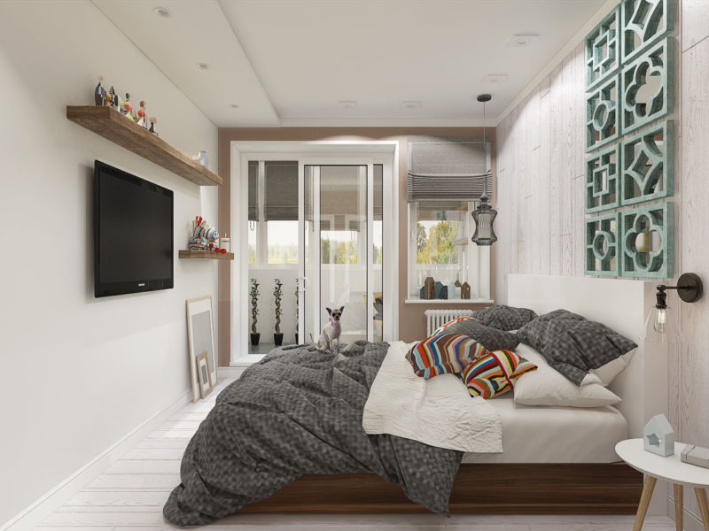Белая спальня в скандинавском стиле