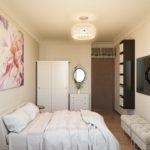 дизайн маленькой спальни 12 кв м