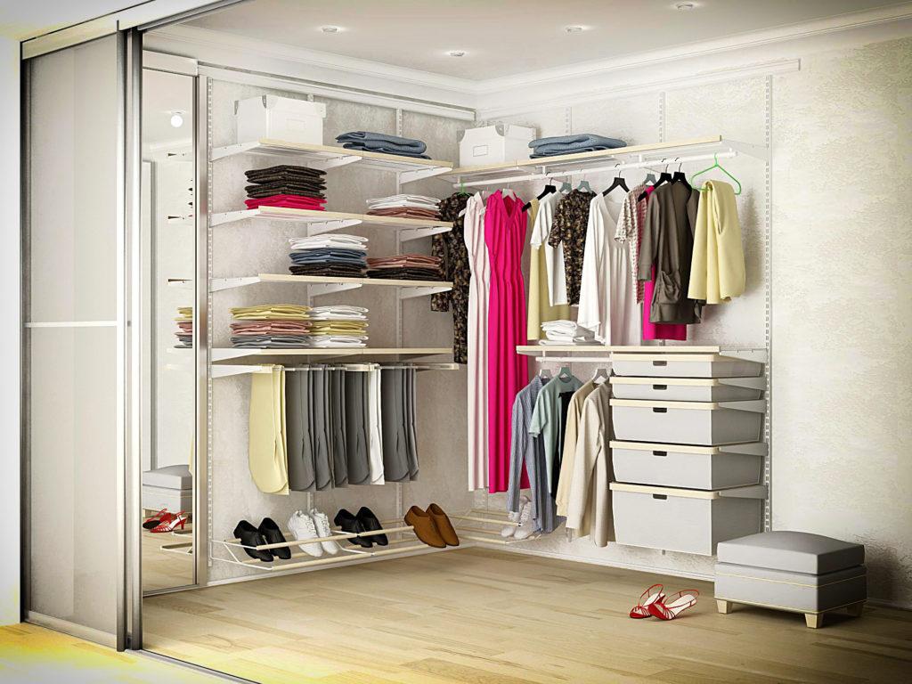 Образцы гардеробных комнат фото