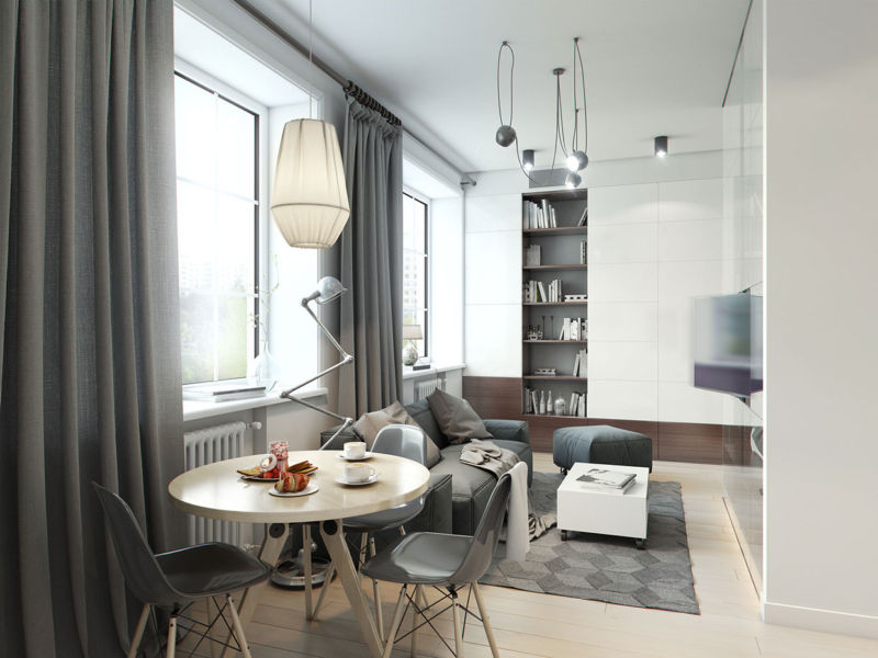 Design living room of 15 square meters. m.