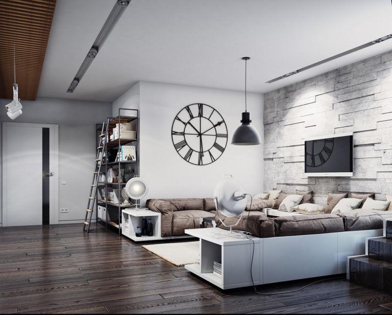 гостиная в стиле лофт 100 фото идей модного дизайна в гостиной