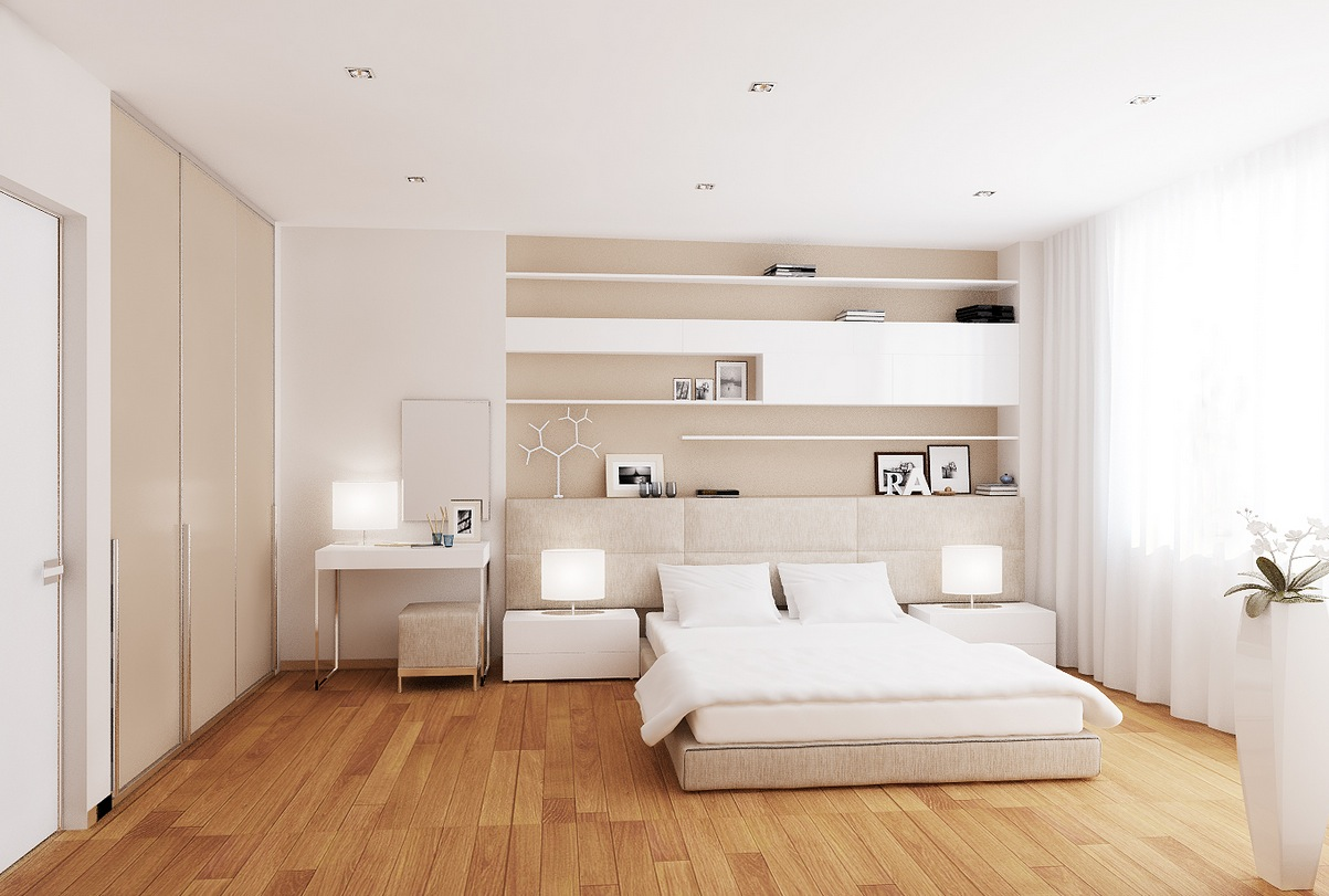 комната в белых тонах