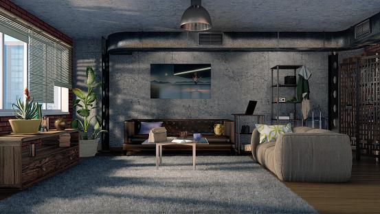 интерьер в гостиной в современном стиле