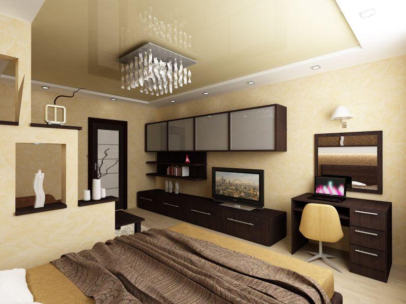 спальня в современном стиле 12 кв м