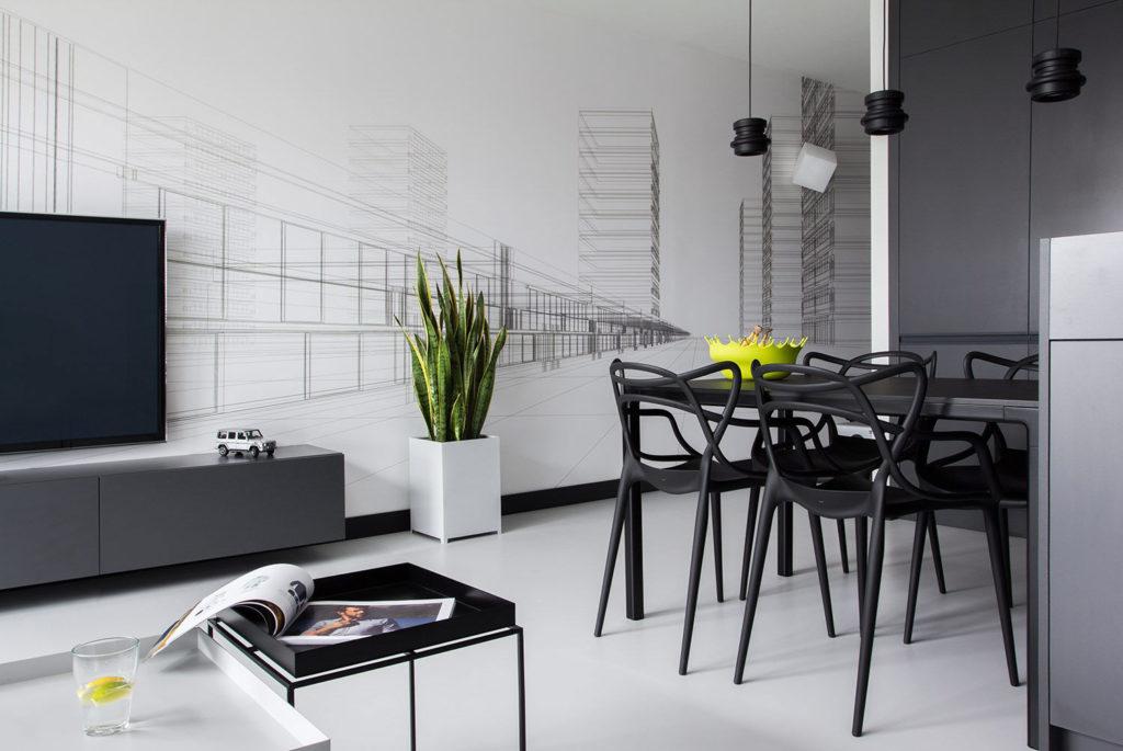 черно белая гостиная 55 фото оригинальных идей оформления в интерьере