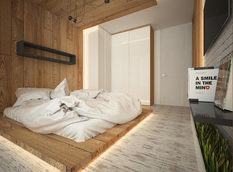 спальни в бежевых тонах