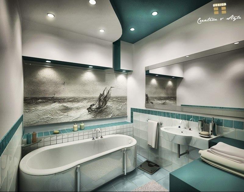 натяжные потолки фото для спальни с рисунком