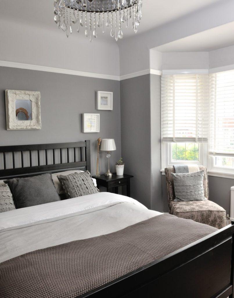 Спальня серая дизайн фото