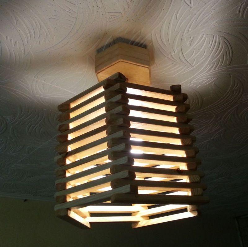 Настенные светильники из фанеры своими руками 29
