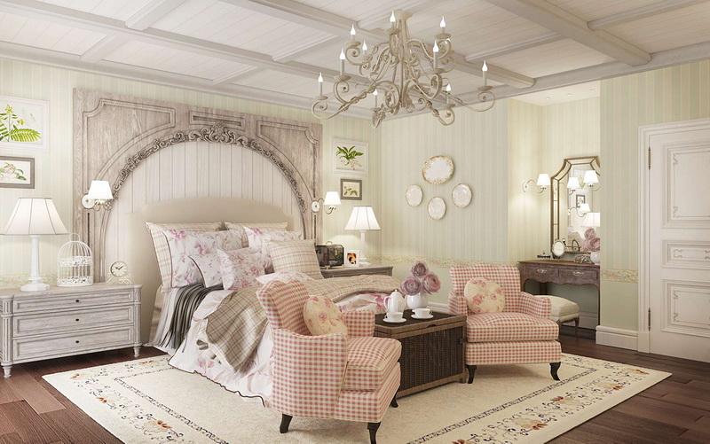 маленькая спальня в стиле прованс